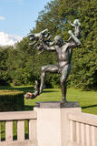 Frogner Park. Is a public park located in the borough of Frogner in Oslo, Norway.  contains, in its present centre, the world famous Vigeland Sculpture Royalty Free Stock Image