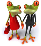 Frogs. Fun sexy frogs, 3d generated Stock Photography