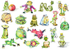 Frogs as art objects royalty free illustration