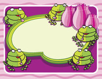 Frogs background Stock Photo
