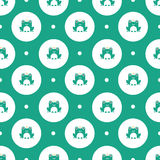 Frogs with crowns pattern Royalty Free Stock Photos