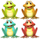 Frogs. Illustration of different color frogs Stock Photography