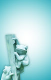 Frogs on ladder Royalty Free Stock Photo