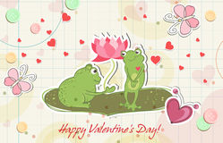 Frogs in love Royalty Free Stock Photos