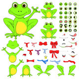 Frogs set of body parts in vector EPS 10.  Royalty Free Stock Image