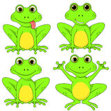 Frogs set on white background in vector EPS 10.  Stock Photo