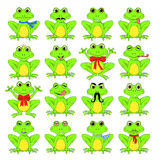 Frogs set on white background in vector EPS 10.  Royalty Free Stock Image