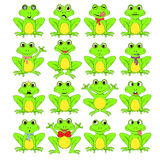 Frogs set on white background in vector EPS 10.  Royalty Free Stock Images
