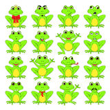 Frogs set on white background in vector EPS 10.  Royalty Free Stock Photo