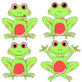 Frogs set on white background in vector EPS 10.  Stock Images