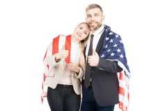Frohe amerikanische Paare stockfotografie