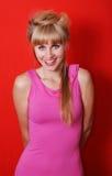Frohe Blondine Lizenzfreies Stockbild