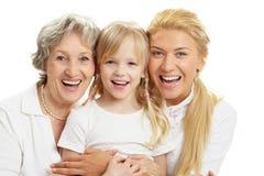 Frohe Familie Lizenzfreie Stockfotos