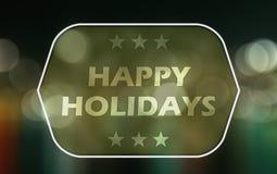 Frohe Feiertage Lizenzfreies Stockbild