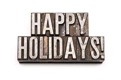 Frohe Feiertage Stockbild