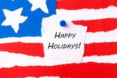 Frohe Feiertage Anmerkung Lizenzfreie Stockfotos
