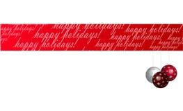 Frohe Feiertage Fahne Stockbild