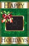 Frohe Feiertage Farbband Stockbild