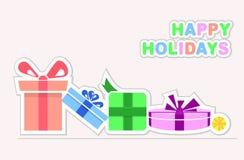 Frohe Feiertage Geschenke stock abbildung