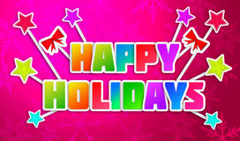 Frohe Feiertage Gruß von Art Paper Card Stockbilder