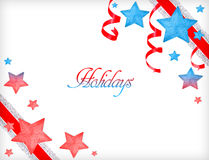 Frohe Feiertage Grußkarte Stockfotos