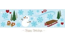 'Frohe Feiertage' Grußkarte Stockfotos