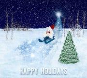 Frohe Feiertage Gruß-Karte Stockfotografie