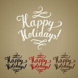 Frohe Feiertage Handwerk Stockbild