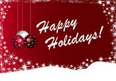 Frohe Feiertage Hintergrund Illu Stockbild