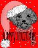 Frohe Feiertage Hund Lizenzfreie Stockfotos