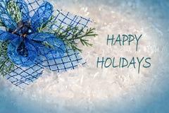 Frohe Feiertage Karte Stockfoto
