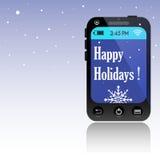 Frohe Feiertage Mitteilung Lizenzfreies Stockfoto