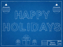 Frohe Feiertage 2016 - Plan Lizenzfreie Stockfotos