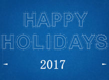 Frohe Feiertage 2017 - Plan Lizenzfreie Stockfotografie