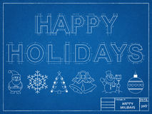 Frohe Feiertage 2017 - Plan Lizenzfreies Stockfoto