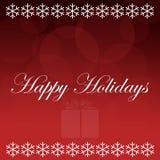 Frohe Feiertage roter Hintergrund Stockbilder