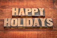 Frohe Feiertage Typografie Stockbilder