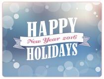 Frohe Feiertage Vektorillustration Lizenzfreies Stockbild