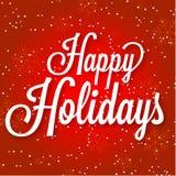 Frohe Feiertage Vektorillustration auf Zusammenfassung Lizenzfreies Stockbild