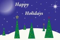 Frohe Feiertage Weihnachtsauslegung Lizenzfreie Stockfotos