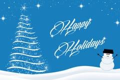 Frohe Feiertage Weihnachtshintergrund Lizenzfreie Stockfotos