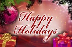 Frohe Feiertage Wünsche Lizenzfreie Stockfotos