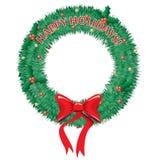 Frohe Feiertage Wreath Stockfoto