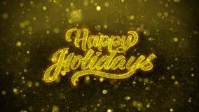 Frohe Feiertage Wunschgrußkarte, Einladung, Feierfeuerwerk lizenzfreie abbildung