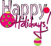 Frohe Feiertage Zeichen Lizenzfreie Stockfotografie