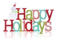 Frohe Feiertage Zeichen Stockbild