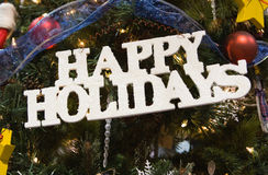 Frohe Feiertage Zeichen Stockfotografie