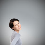 Frohe Frau des smiley Stockfotografie