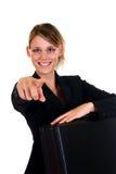 Frohe Geschäftsfrau Lizenzfreie Stockfotos