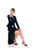 Frohe Geschäftsfrau Lizenzfreies Stockfoto